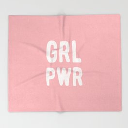 GRL PWR (pink) Throw Blanket