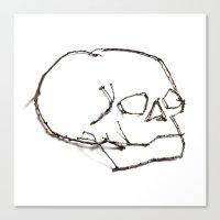 47. Twiggy Skull Canvas Print