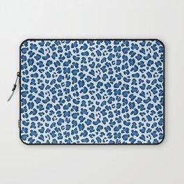 Leopard Print - Classic Blue - Light Laptop Sleeve