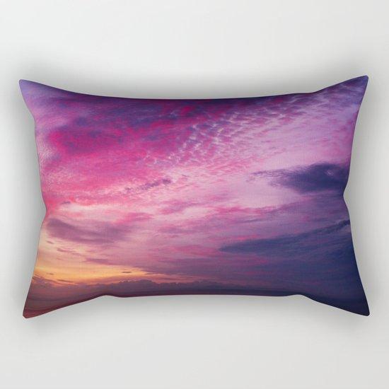 Red Sky Sunrise Rectangular Pillow