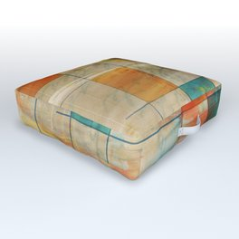 Mid-Century Modern Art 5.0 - Mirror Graffiti Outdoor Floor Cushion