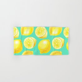 Watercolor lemons pattern Hand & Bath Towel