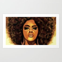 Jill Scott portrait Art Print