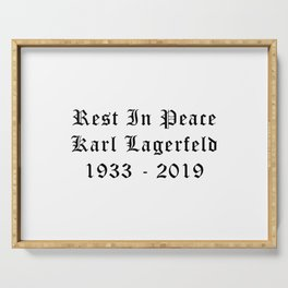 RIP Karl Lagerfeld Calligraphy Serving Tray