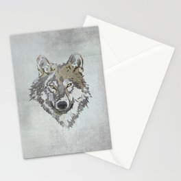 Wolf Head Illustration Stationery Cards