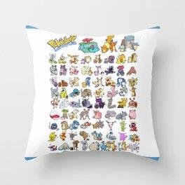 Pokémon - Gotta derp 'em all! - White edition Throw Pillow