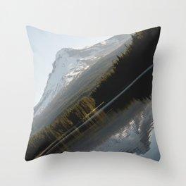 Mountain Slide Throw Pillow