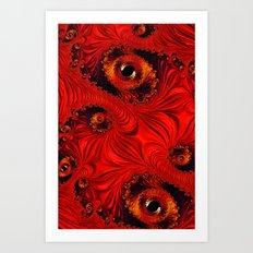 Orange Fizz Art Print