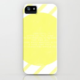 Hafez sun love quote iPhone Case