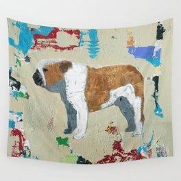 English Bulldog Abstract Art Wall Tapestry
