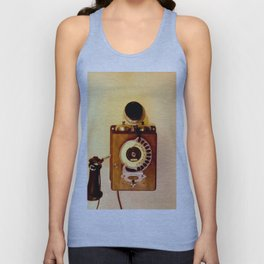 ANTIQUE WALL TELEPHONE Unisex Tank Top