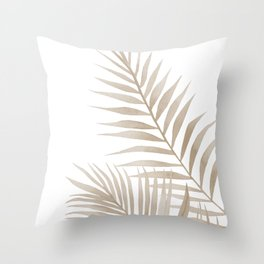 Beige leaves Throw Pillow