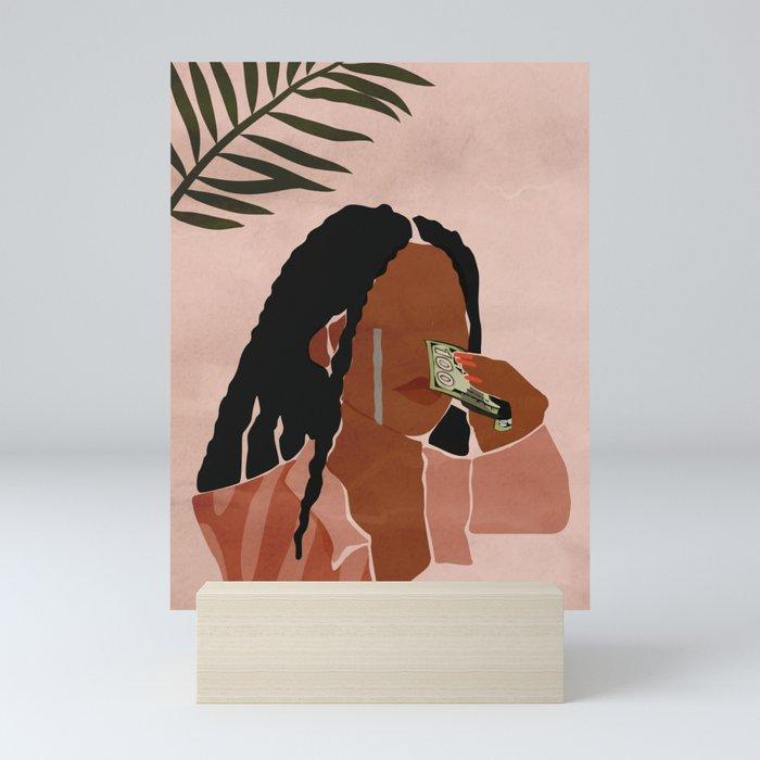 Wipin' Tears Mini Art Print
