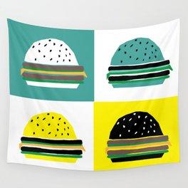 fastfood hamburger Wall Tapestry