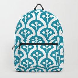 Atomic Mushroom Cerulean Blue Backpack