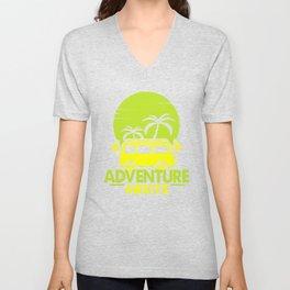 Adventure Awaits gy Unisex V-Neck