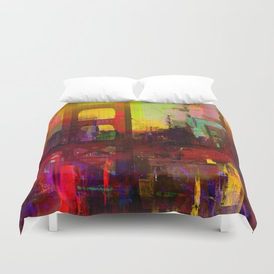 And the night comes Duvet Cover