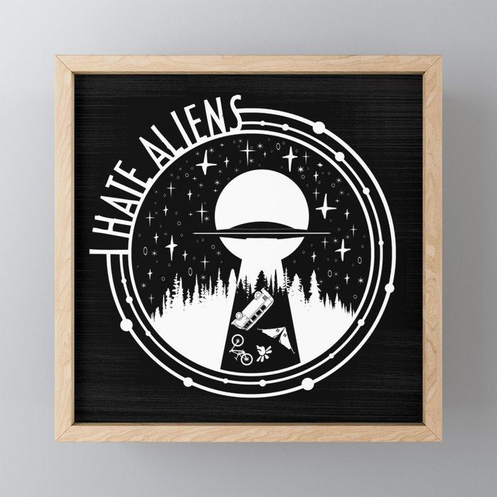 I Love Aliens Framed Mini Art Print