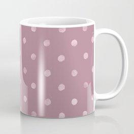 Metallic Mauve Grunge Polka Dots Coffee Mug