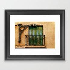 Irish Town balcony, Gibraltar Framed Art Print