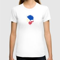philippines T-shirts featuring Flag of Philippines on a Chaotic Splatter Skull by Jeff Bartels