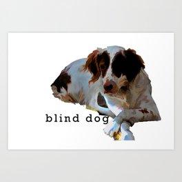 blind dog Art Print