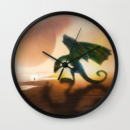 The Nasty Dragon Who Became a Nice Puppy by GEN Z Wall Clock