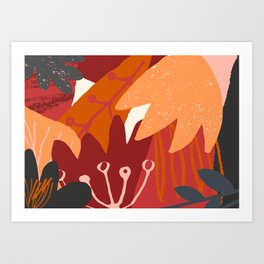 Autumn Abstract 3 Art Print