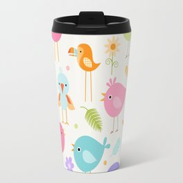 Birds - Off White Travel Mug