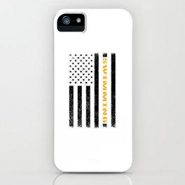 American Swimmer bw iPhone Case