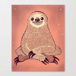 Sitting Sloth Canvas Print