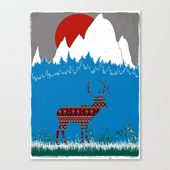 Deer Escapes From Gap Sweater Canvas Print