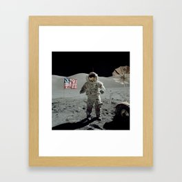 Apollo 17 - Last Man On The Moon Framed Art Print