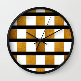 Black White and Gold Wall Clock