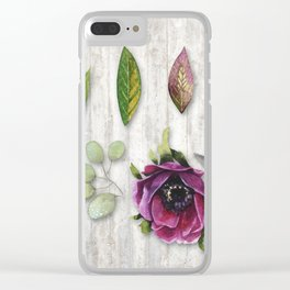 Botanica I Plants and Flowers Clear iPhone Case