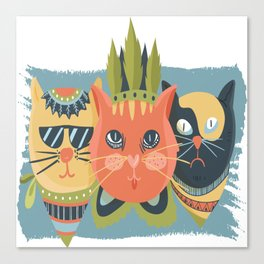 BOHO CAT Canvas Print