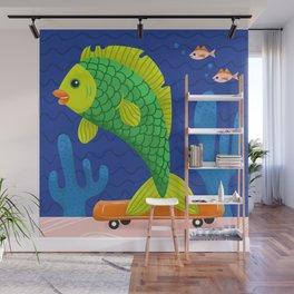 Skateboard Fish Wall Mural