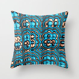 Bits and Blobs - Fractal Art Throw Pillow