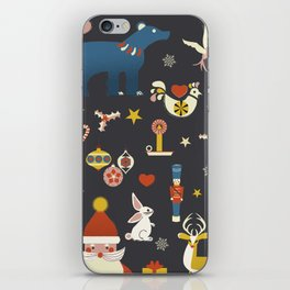 Christmas symbols pattern iPhone Skin