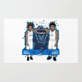 jersey numbers, LiAngelo and LaMelo Ball's Rug