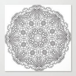 Magic flower mandala Canvas Print
