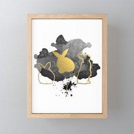 Bunnies Version 3 Framed Mini Art Print