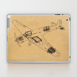 Airplane diagram Laptop & iPad Skin