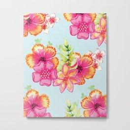 Summer floral pattern V5 #society6 Metal Print