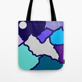 mountains and night sky Tote Bag