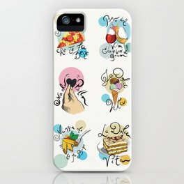 Italian Food Collection iPhone Case