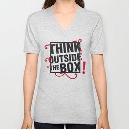 Think outside the BOX!  Unisex V-Neck