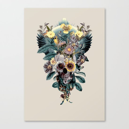 Skull and Snake Canvas Print