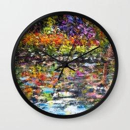 Hidden Peace by Sher Nasser Artist Wall Clock