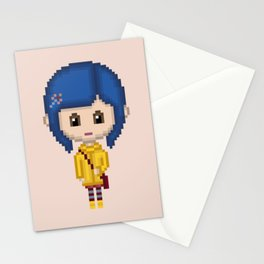 Coraline (Pixel Art) Stationery Cards